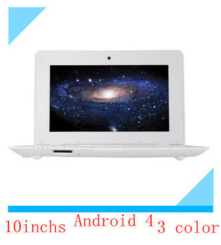 Free shipping 2013 new 10 inch netbook Android 4 students access the mini notebook computer 1024*600 1300000 pixel camera 2024
