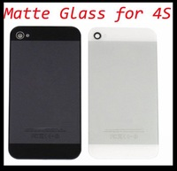 For iPhone 4S Matte Glass Back Cover Make your phone like 5G Housing with flash diffuser Housing Replacement