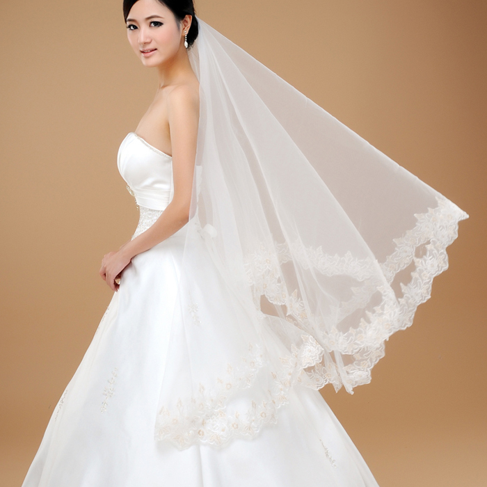 Love bridal veil lace decoration the bride hair accessory wedding accessories(China (Mainland))