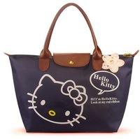 New Arrival Hello Kitty shoulder bag / shopping bag /waterproof Bag Big Size Dark Blue Color