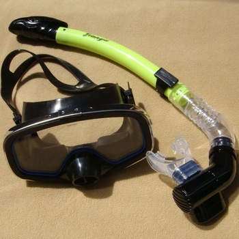 Black belt air outlet valve submersible mirror full dry a breathing tube set snorkel submersible glass mask