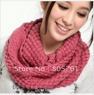 2012 fashionable desgin Loverly scarf necklace knitted scarf ring Free Shipping(China (Mainland))