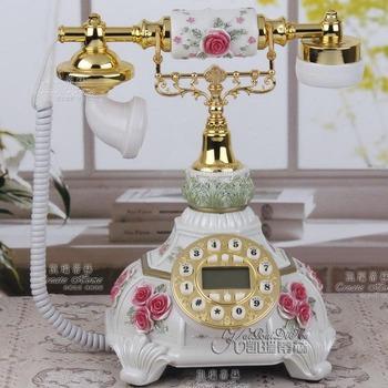 Fashion landline phone rustic vintage telephone callerid rope antique telephone