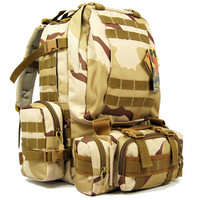 Outdoor 51783 Camouflage packs tactical double-shoulder attack packets backpack combat pack mountaineering bag