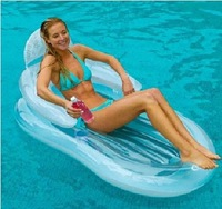 Intex bed transparent 58857 armrest chaise lounge inflatable floating row floating bed beach mat