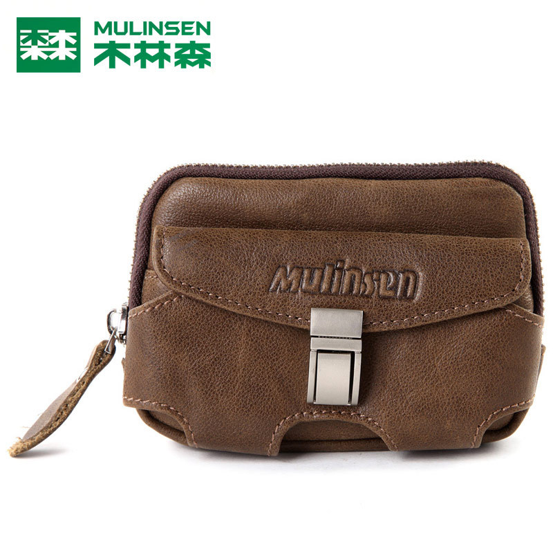 Mls male genuine leather waist pack outdoor male waist pack mini small cowhide bag travel bag mc610k-1(China (Mainland))