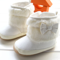 risunny babay  New arrival 2013  children's white color boot warm and comfortable