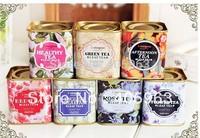 Vintage style tea tins iron box mini storage container case ,coin case dropship wholesale storage tin case