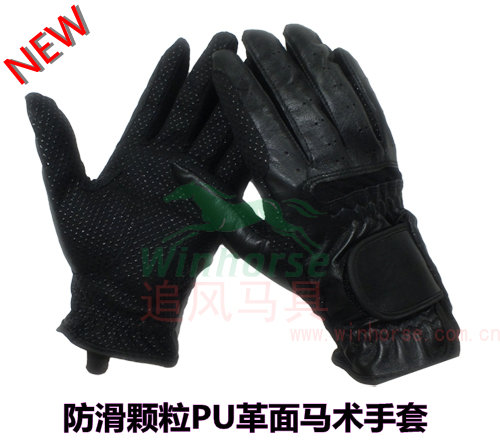 Riding gloves riding gloves slip-resistant safety gloves black fashion PU riding gloves(China (Mainland))