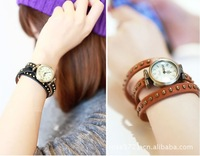 Free Shipping~ 2013 Explosion Models Fashion Punk Cow Leather Watches, High Quality ROMA Watches Header Free shipping#W012