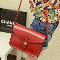 [4 Colors] 2013 Factory Price Design Korean Style High Quality PU Leather Wholesale Fashion Ladies' Shoulder Bag  Women Handbags