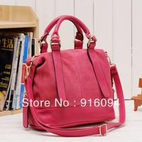 2013 bag nubuck leather genuine leather bag shoulder bag handbag female women's bags free shipping