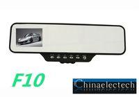 New Car Video Mirror F10 360 degrees rear car camera 1080P HD Black Box H.264 Video Recorder go pro full hd 1080P Free Shipping