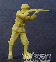 Grp 1 Min Order $40 (Mix in Grp 1) 1/35 World War II Resin Soldier Figure Gernman Soldier Shooting Resin Figure Un-Painted