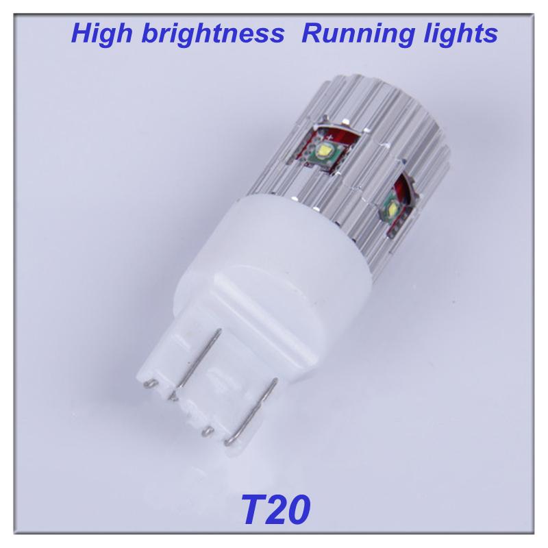 Mazda 3 Mazda 6 Brake lights 2 PCS W21/5W T20 7443 CREEx 5 25W DC 12-24V Wedge Bulb Lamp Free Shipping(China (Mainland))