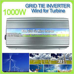 Grid Tie Power Inverter for Wind Turbine Generator 24 30VDC 1000W 1000 Watt