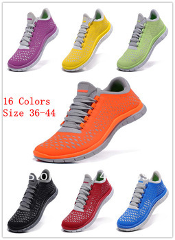 Free Run 3.0 v4 Running Shoes Wholesale Lovers Barefoot Athletic Freeshipping Drop shipping Top quality 16 colors Mix order 44(China (Mainland))