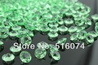 1000pcs Acrylic Light Green 10mm 4 CT Diamond Confetti Wedding Reception Table Scatter Decoration+free shipping