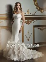 JC-08 Crazy Hot!! 2013 New Arrival Custom Made Sexy Sweetheart Mermaid Drapped Beads Crystal Taffeta Wedding Dresses 2013