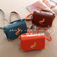Free Shipping brand 2013 vintage metal rabbit bag rabbit bag mini shoulder bag messenger bag female