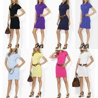 2013 summer pony polo women's scalar short-sleeve dress female solid color slim sports tennis ball dress