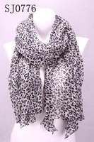 Min.order is $10 (mix order)Elegant Women& Ladies' leopard print a overlong wrap shawl scarf Stole SJ0776 Free Shipping