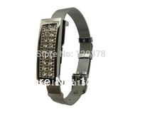 Free shipping wholesale New Stainless Steel Bracelet with Rhinestone Gift Jewelry USB flash drive dish 1GB 2GB 4GB 8GB 16GB 32GB