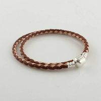 Браслет из бусин European Style 925 Sterling Silver Bracelet Chain with Clasp Clips Fit Thread Charm Beads Bracelets Jewelry YL601-06