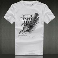 rudely summer short-sleeve T-shirt male t-shirt short-sleeve o-neck cotton 100% cotton