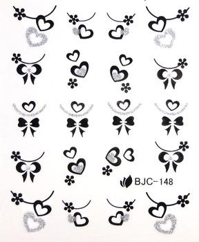 nail art supplies watermark stickers water transfer printing applique nail art shallops powder decal bjc133-154