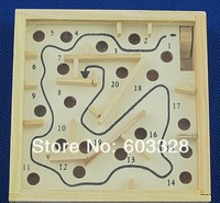 Wooden Carved Moving Maze Game Puzzle Creative Toys for Children