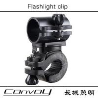 Free shipping 360-degree rotating Black Cycling Bike Bicycle Front light Clip Flashlight Holder Torch Bracket