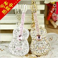 Usb flash drive crystal violin usb flash drive diamond jewelry guitar usb flash drive 1G 2G 4G 8G 16G 32G gift usb flash drive