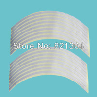 Free shipping Reflective Motorcycle Car Stripe Wheel Decal Tape Silve