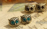 50pcs/lot Wholesale  Fashion vintage owl earrings 2013 women earrings Promotion Bijouterie Gift  Free shipping