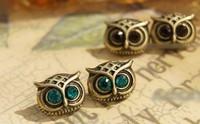 50pcs/lot Wholesale  Fashion vintage owl earrings 2013 women earrings Promotion Bijouterie Gift  Free shipping