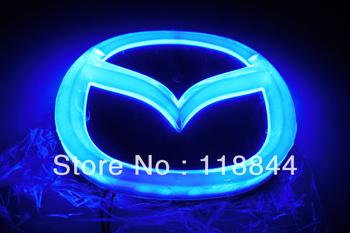 Новое поступление 4D EL из светодиодов авто логотип декоративные фонари для Mazda 2 3 6 автомобиля знак светодиодные лампы авто эмблема из светодиодов Llight бесплатная доставка