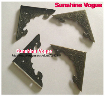 Metal angle for box/bag, bronze 40*40*4mm corner cover accessory 100pcs/lot,DIY accessories for furniture/box/bags. CPAM free