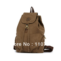 2013 new canvas retro casual shoulder bag female college style bag fashion women bag schoolbag backpack
