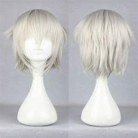 Free Shipping Cheap 35cm Short K-Isana Yashiro Silvery White Cosplay Anime Wig