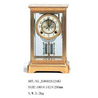 free shipping Fashion classical copper technology clock fireplace clock four gold plated mechanical clock antique
