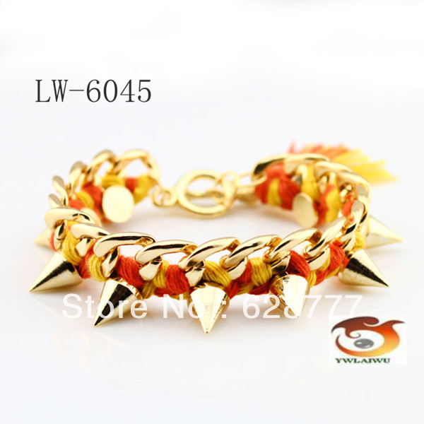 2013 New style handmade braided friendship bracelets in mixed neon color(China (Mainland))