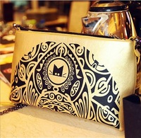 2013 New Arrival Promotion Women's Cute Designer Cat Bag Animal Print Day Clutches and Purses Chain Shoulder Bags Party