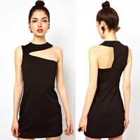 Free Shipping !celebrity cocktail dresses 2013 french fashion black bandage dresse slim tube top dress 6 sizes