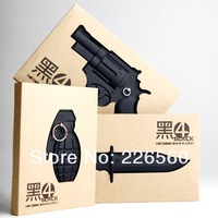 Free Shipping 3Pieces/lot Grenade + Knife + Gun Armed Notebooks / Weapon Notebooks