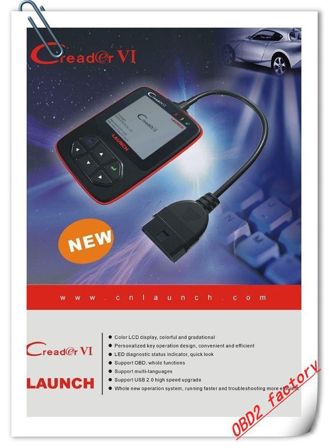 Launch Creader VI OBD2 OBDII EOBD Code Reader Auto Diagnostic Code scanner launch Creader 6 obd scan tool(China (Mainland))