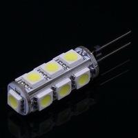 10 pcs G4 2.6W 210Lumen 6500K 13 SMD 5050 LED Light Pure White Bulb Lamp DC 12V