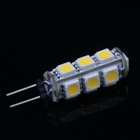 10 pcs G4 2.6W 210Lumen 13 SMD 5050 LED Light 3500K Warm White Bulb Lamp DC 12V