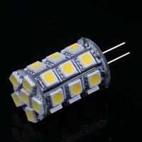 5 pcs G4 4W 440-Lumen 3500K 27 SMD 5050 LED Light Warm White Bulb Lamp DC 12V