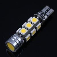 2 pcs T10 W5W 194 168 2825 2821 Car Warm White 12 SMD 5050 & 1.5W LED Light Bulbs DC 12V